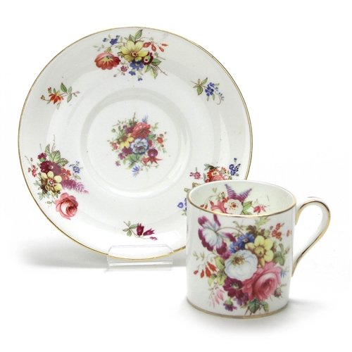 Minuet by Hammersley, China Demitasse Cup & Saucer, Flowers