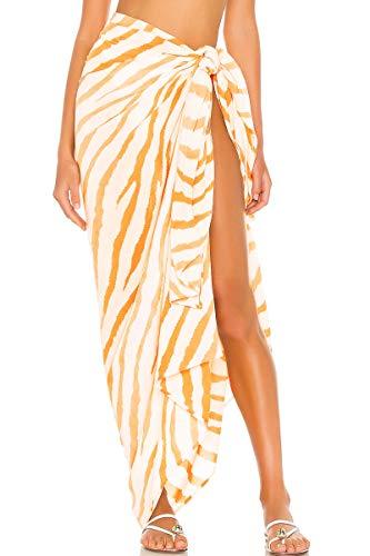 Hibluco Women's Beach Sarongs Swimsuit Cover Up Beach Wrap Skirt Bikini Cover-ups