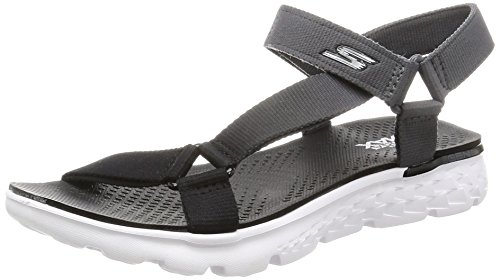 SKECHERS Mujer Y mujer Chanclas Para gris Sandalias para y GO JAZZY Sandalias SKECHERS chanclas gris marca modelo ON Gris color THE qvpPOw0