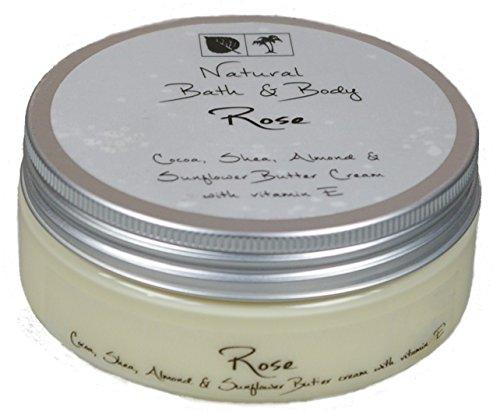 Kakaobutter Creme Handcreme Gesichtscreme ROSE 200 ml mit Sheabutter geeignet auch für sehr trockene Haut