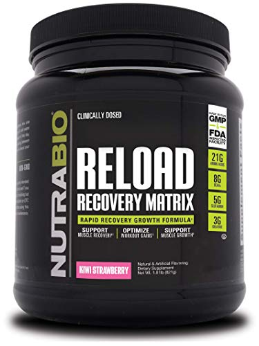 NutraBio Reload Recovery Servings Strawberry