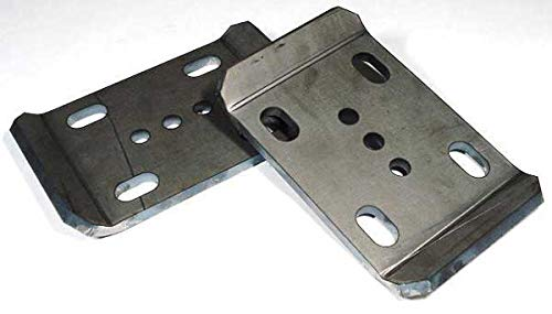 Early Jeep CJ Series & M38 & IH Scout U Bolt Plates For Two Inch Wide Springs Barnes 4WD