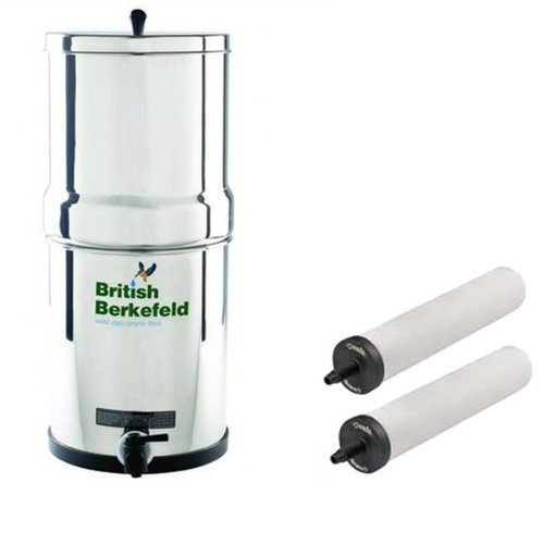 Stainless Steel Gravity Water Purifier with ATC Super Sterasyl Heavy Metal Filters - UK ONLY