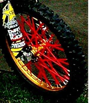 Big Wheel Bykas Dirt Bike Spoke Wraps Red for Honda CRF125F 2014-2018