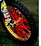 Bykas MADE IN USA Red-Spoke, Covers, Wraps, Skins, Coats-Dirt Bike 72 Spokes