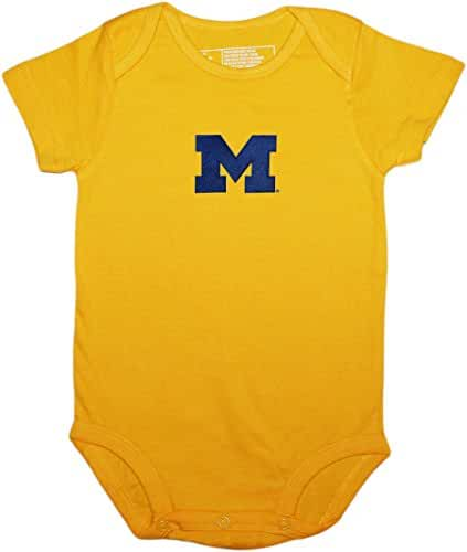 University of Michigan Wolverines Block M Newborn Baby Bodysuit