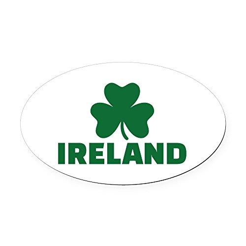 CafePress - Ireland shamrock Oval Car Magnet - Oval Car Magnet, Euro Oval Magnetic Bumper Sticker