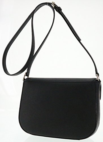 York New Leather Carsen Large Kate Black Saffiano Bag Laurel Spade Crossbody Way 8EaYWnW5f