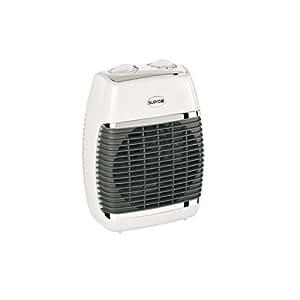 Supra SB Collection - Calefactor para baño, aire caliente y frío, de pared o portátil, 2500 W, color blanco
