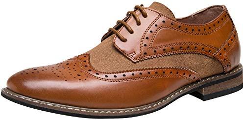 JOUSEN Mens Dress Shoes Wingtip Brogue Oxford Shoes for Men