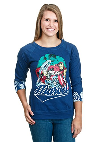 Freeze Marvel Avengers Reversible Juniors Pull Over,Royal Blue,Medium
