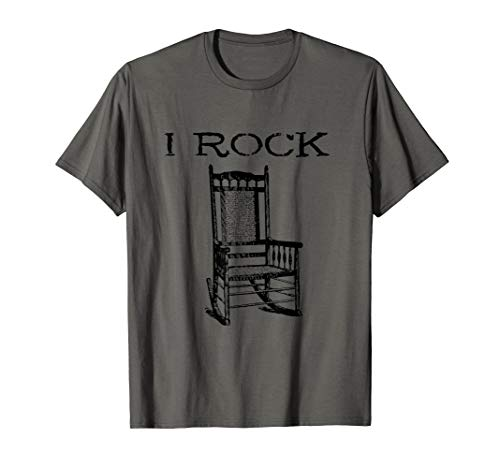 I Rock Rocking Chair T-Shirt Funny Drummer Guitar Gift