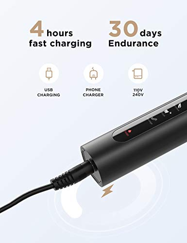 Fairywill Dual Electric Toothbrushes Powerful Cleaning with 5 Modes, Smart Timer, 10 Brush Heads & 2 Travel Cases, Rechargeable Whitening Sonic Toothbrush for Adults and Kids USB Fast Charge