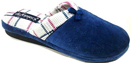 DE FONSECA ciabatte pantofole invernali da donna mod. VERONA W46 BLU