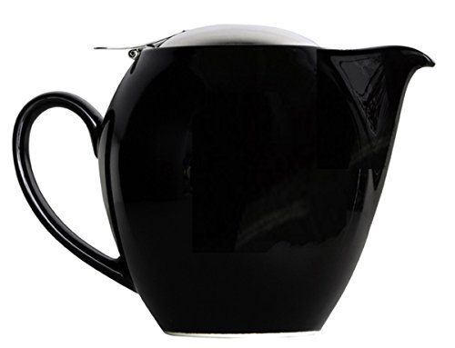 Bee House Ceramic Teapot 12 Ounce Round (Black) (Ceramic Teapot Small compare prices)