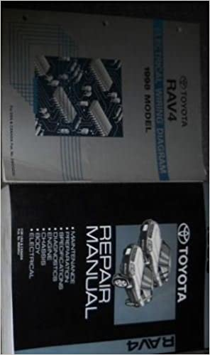 1998 toyota rav4 rav 4 rav4 service shop repair manual set w electrical  diagram: toyota: amazon com: books