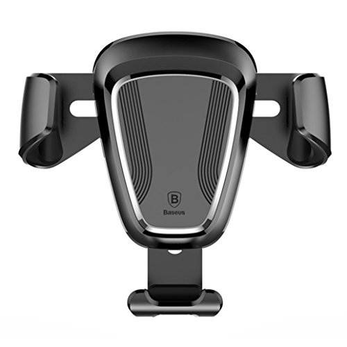 Price comparison product image GBSELL Baseus Universal Car Air Vent Mount Cradle Stand Holder For Samsung For iPhone,Huawei,LG (Black)