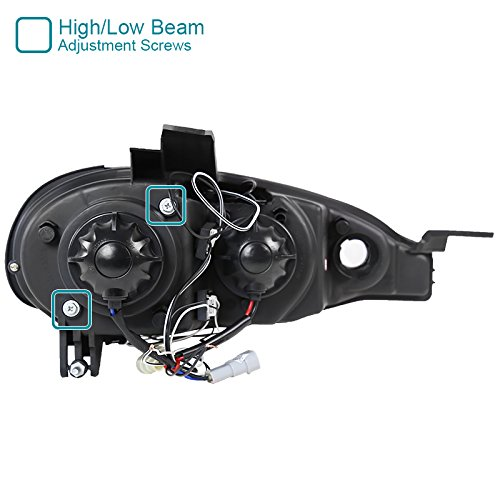 Gloss Housing Smoke Lens Spec-D Tuning LHP-MX501G-TM Black Projector Headlight