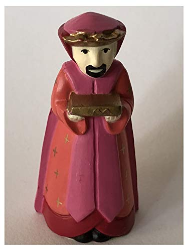 Hallmark Merry Miniature Nativity Pink King 1989 Christmas