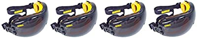 Dewalt DPG82-21 Concealer Smoke Anti-Fog Dual Mold Safety Goggle,BCxdwg 4 Pack (1 Count Smoke Lens)