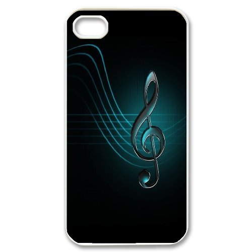 Andy iPhone 4,4s Case,Personalized Custom Simple Musical Note ,Unique Design Protective TPU Hard Phone Case Cover