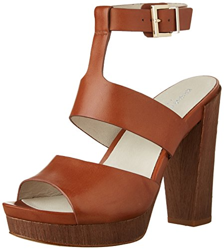 Kenneth Plataforma Talla Ray Mujeres con Leather Sandalias Cole Cognac ZqTrwZF
