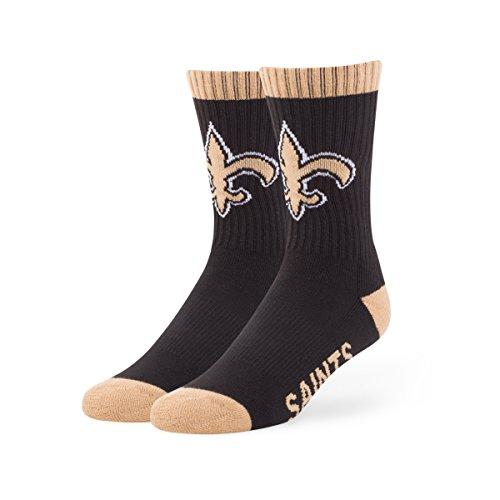 NFL New Orleans Saints '47 Bolt Sport Socks, Black, Large , 1-Pack