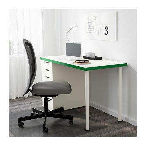 Amazon.com: IKEA mesa de computadora con cajones, blanco ...