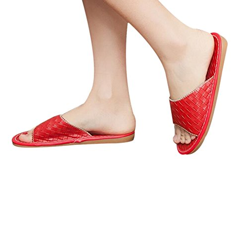 Red TELLW Femme pour Women Chaussons 8qTwvPTI