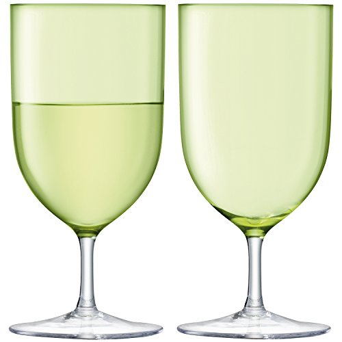 LSA International G939-14-628 Hint Wine/Water Glass, 13.5 fl. oz, Pale Lime