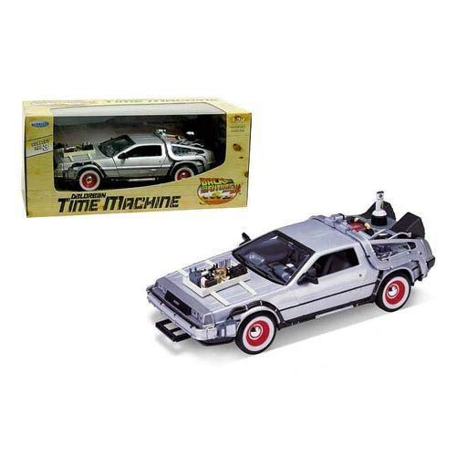 DIECAST 1:24 W/B - Back to The Future III - DMC Delorean TIME Machine 22444W by WELLY