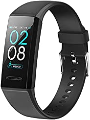 Flian Fitness Tracker, Step & Calorie Counter with Heart Rate Sleep Monitor, IP68 Waterproof Activity Trac