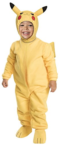 Rubies Pokemon Pikachu Toddler Jumpsuit Costume (Pikachu, 2T) -