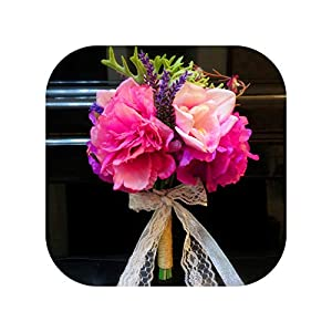 mamamoo Wedding Bouquets Luxury Artificial Boat Orchids Flowers Wedding for Bride Bridal Bouquet,3 60