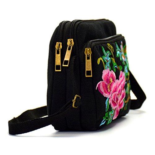 Bag Vintage Embroidered Flower Ethnic Messenger Jiyaru Shoulder Purse Women Crossbody nI6gqzP