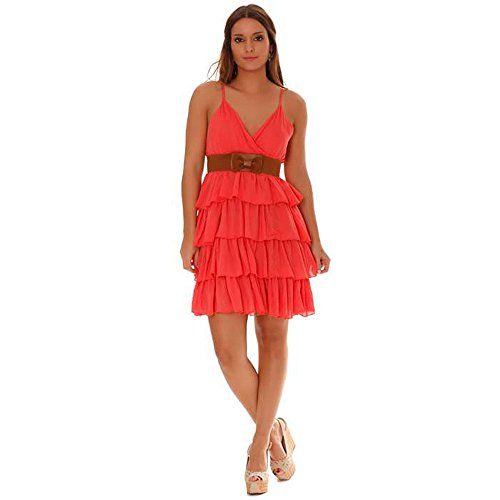 Miss Wear Line - Robe tunique volante corail