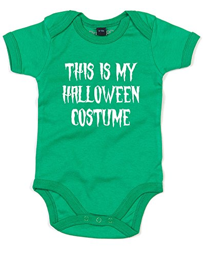 Witches Costume Pinterest (This is my Halloween Costume, Printed Baby Grow - Kelly Green/White 12-18 Months)