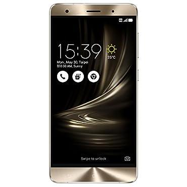 ASUS ZenFone 3 Deluxe 5.7 AMOLED FHD display, 6GB RAM 64GB storage Unlocked Dual SIM Cell Phone, US Warranty (ZS570KL-Glacier Silver)