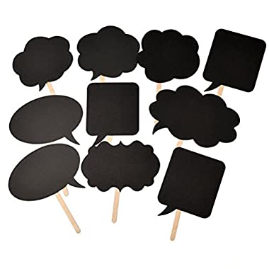 SDBING Set of 10pcs Wedding or Engagement Photo Booth Signs Photobooth Props Speech Bubbles on a Stick Bridal Shower Party Decoration