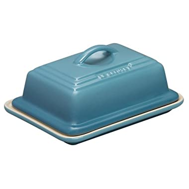 Le Creuset of America Heritage Stoneware Butter Dish, Caribbean