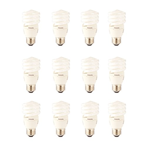 Philips CFL Light Bulb 13W T2 Twister Daylight 6500K, 60 Watt Equivalent (12 Pack)