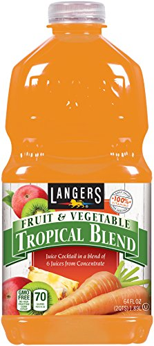 - Langers Fruit and Vegetable Juice, Tropical Blend Cocktail, 64 Ounce (Pack of 8)