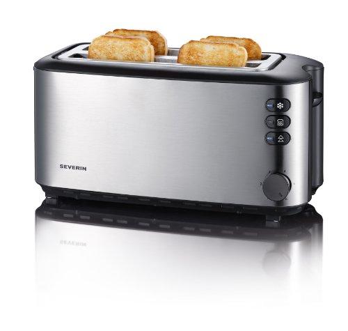 Severin AT 2509 Automatik-Toaster (1400 Watt, für bis zu 4 Brotscheiben), edelstahl