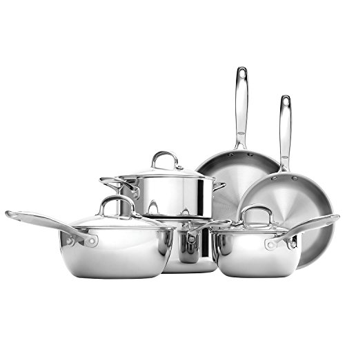 OXO 10 Piece Cookware Set - Stainless Steel