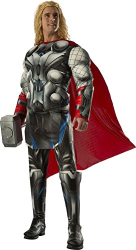 Rubie's Costume Co Men's Avengers 2 Age Of Ultron Deluxe Adult Thor Costume, Multi, Standard (Superhero Team Costumes)