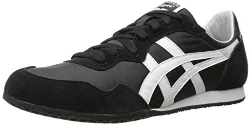 Onitsuka Tiger Unisex Serrano Shoes D109L, Black/White, 5.5 M US