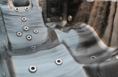 Whirlpool Badewanne Outdoor Vasa-Fit W195S schwarz 195 x 127 x 63 cm
