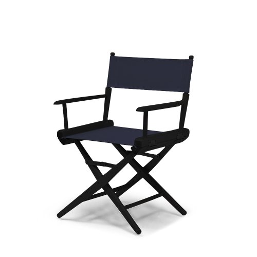 Telescope Casual World Famous Dining Height Director Chair, Navy with Black Frame by Telescope Casual