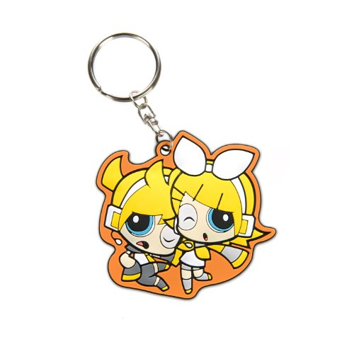 Powerpuff Girls x Vocaloid Len and Rin PVC Keychain