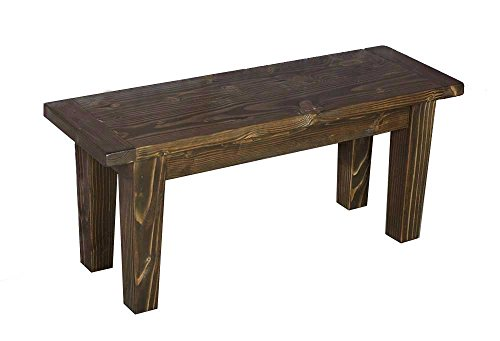 Bench - Solid Wood Tapered Leg, Entryway Bench